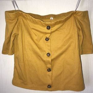 Tops - Yellow Size Small Crop Top